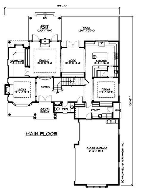 multi level traditional home with 4 bedrms 3919 sq ft plan 115 1030