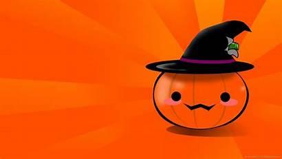 Halloween Pumpkin Backgrounds Wallpapers Desktop Kawaii Pumpkins