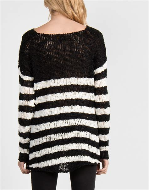 and white striped sweater dreamy black and white striped sweater medium tops