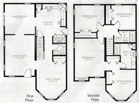 beautiful  bedroom  storey house plans  home plans