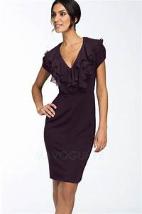 robe de cocktail mousseline polyester courte chic With robe fourreau chic