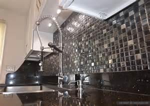 black glass tiles for kitchen backsplashes glass backsplash ideas design photos and pictures