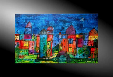 Moderne Kunst Häuser by City Fantasies No 44 Dekoration Abstrakte Malerei
