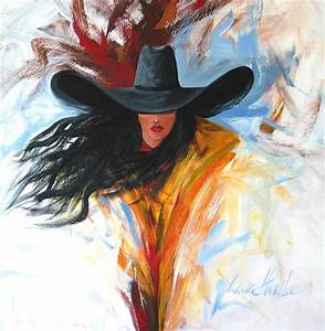 Brushstroke Cowgirl Painting by Lance Headlee