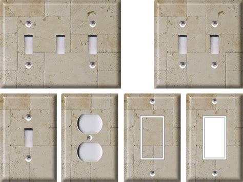 Home Decor Outlet: Stone Pattern 3 - Light Switch Covers Home Decor Outlet