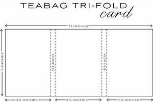 Freebie Tea Bag Gift Holder Template – Stamping