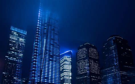 blue night light   city wallpaper