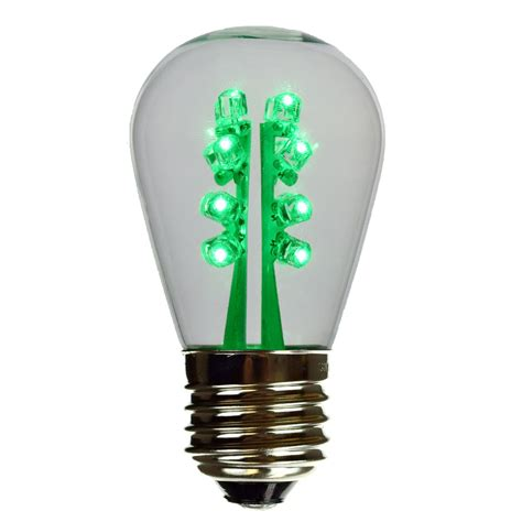 s14 smooth green led light bulb