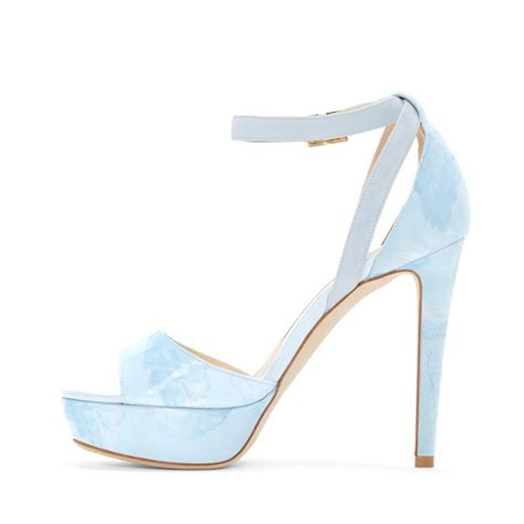 light blue shoes heels light blue ankle strap sandals open toe platform high heel