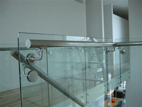Shower Door Guard by Glass Railing Gallery