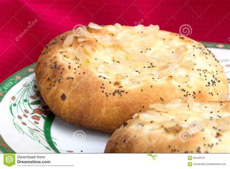 cuisine juif d 39 oignon juif pletzel image stock image du blé