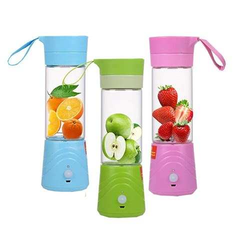 electric juice juicer fruit travel glass usb 380ml rechargable extractor blender smoothie crushing portable