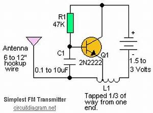 simplest rf transmitter circuit schematic With easy fm transmitter