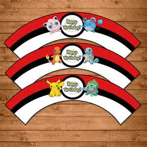 pokemon cupcake wrappers red white