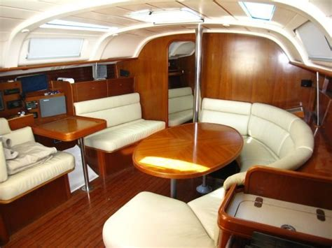 Wooden Boat Interiors by Interior Of 40 Sailboat Cabin A Sailboat