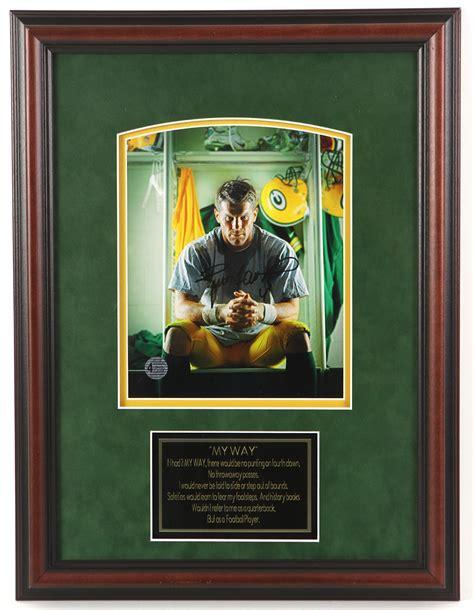 Lot Detail 1990s Brett Favre Green Bay Packers Signed 16