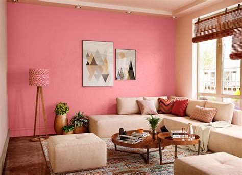 Try Pink Accent House Paint Colour Shades For Walls