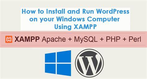 install  run wordpress   windows computer