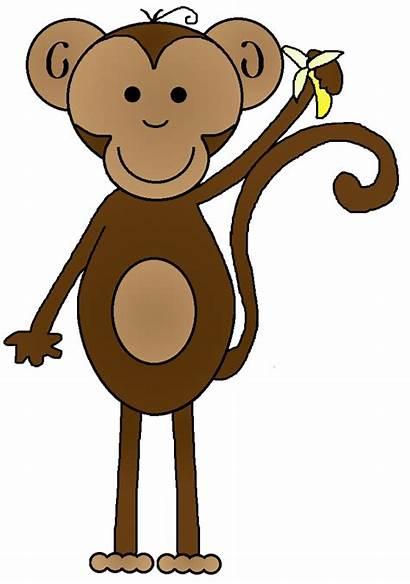 Monkey Clip Clipart Monkeys Tree Cartoon Cliparts