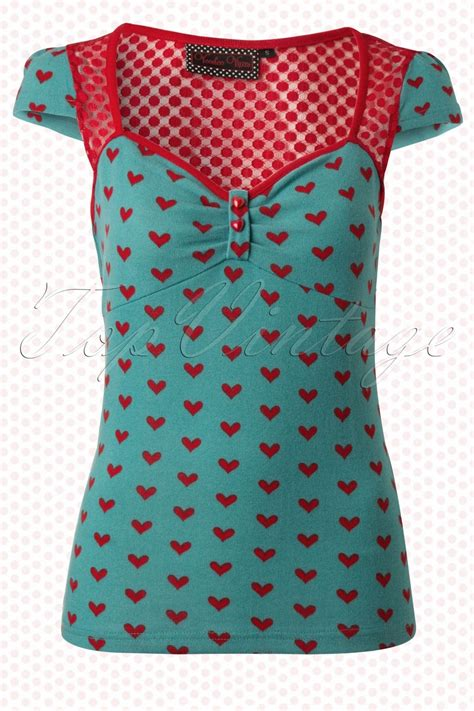 60er jahre möbel blue vintage top with hearts in 2019 mode f 252 r mich