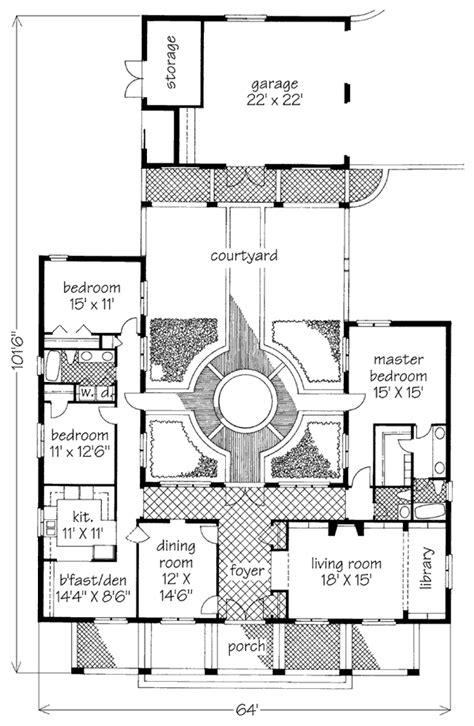 courtyard garden hse david sulivan southern living house plans big plans courtyard house