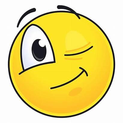 Emoticon Emoji Smiley Piscando Emoticono Transparente Transparent