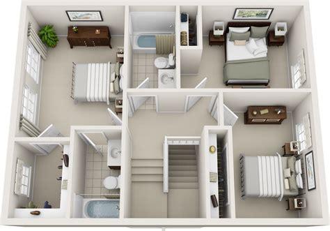 Bedroom Floor by Three Bedroom Floor Plans Charleston Apartments