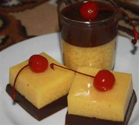 resep   membuat puding kentang biskuit coklat