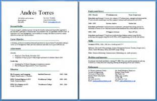 resume templates for school leavers australia cv two pages exle