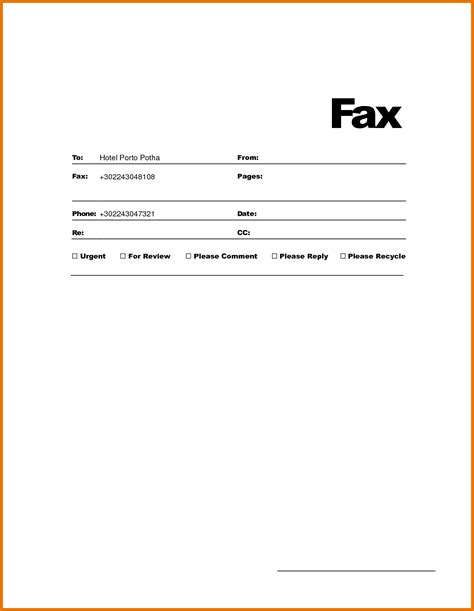 fax cover letter template world  reference