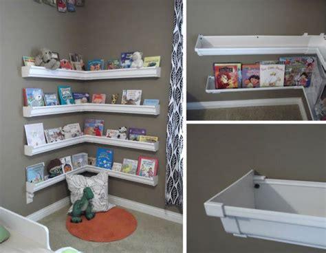 diy gutter bookshelves classroom ideas
