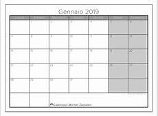 Calendario Con Festivita.Calendario Con Festivita 2019 Calendarios Hd