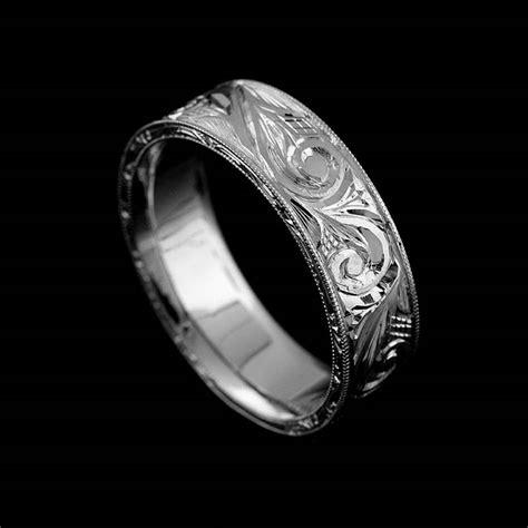 vintage replica engraved men s wedding ring 6mm gold orospot com