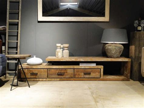 tv meubel hout tv meubel oud hout orvault robuustetafels nl