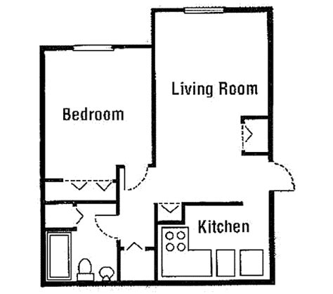 one bedroom cottage plans image beautiful simple one bedroom house plans for kitchen