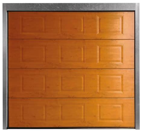 porte de garage sectionnelle motorisee brico depot porte de garage sectionnelle motoris 233 e en acier h 200 cm l 240 cm plax 233 bois brico d 233 p 244 t