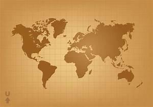Vintage World Map Vector