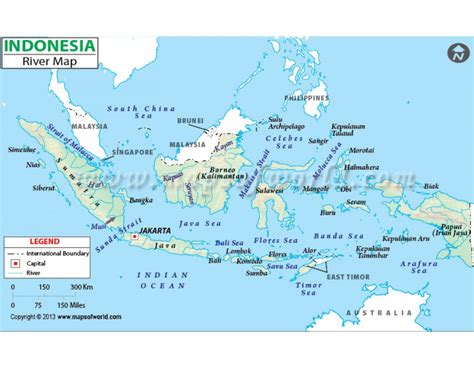 buy indonesia river map