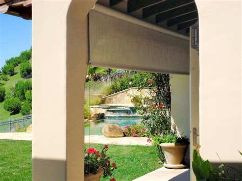 outdoor patio drop shade mediterranean patio los