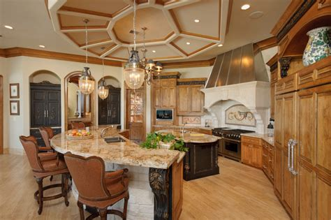 harbor breeze lake home mediterranean kitchen