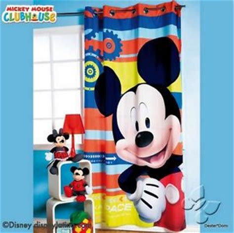 Mickey Mouse Clubhouse Bedroom Curtains mickey mouse disney bedroom decoration room curtain blue