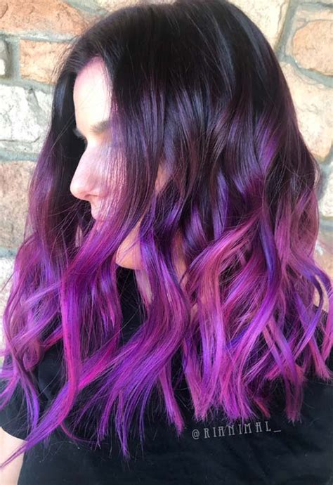 63 Purple Hair Color Ideas To Swoon Over Violet And Purple