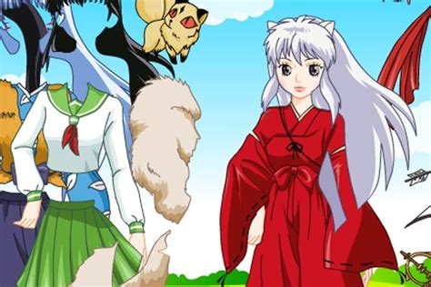 anime free dress up games inu yasha dress up game anime games games loon