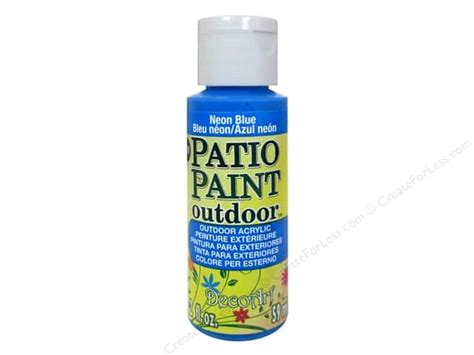 decoart patio paint  oz neon blue createforless