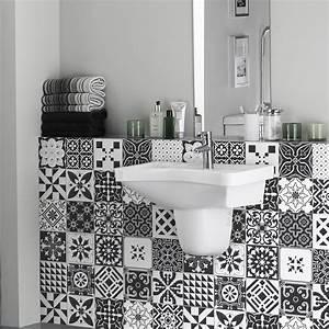 Stickers Carreaux De Ciment Cuisine : 24 stickers carreaux de ciment azulejos elodio cuisine ~ Melissatoandfro.com Idées de Décoration