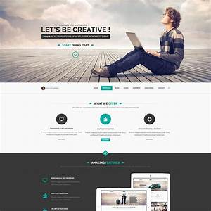 23 free one page psd web templates in 2017 colorlib With what is a psd template