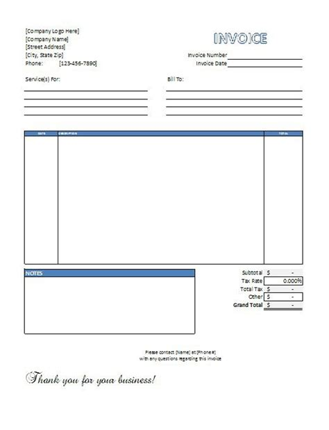Service Invoice Template 39 Best Templates Of Service Billing Invoice Exles