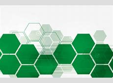 Green Hexagon Technology Background Vector Material, Green