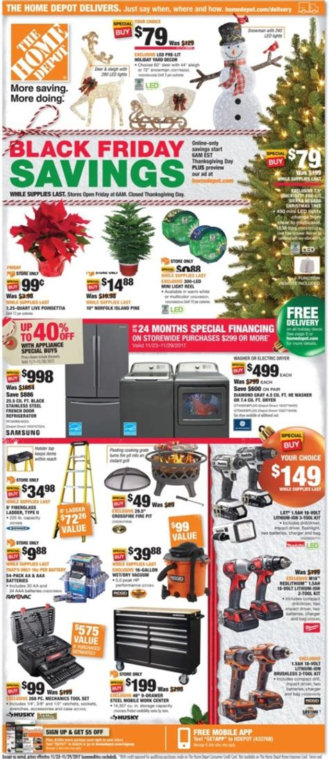 black friday christmas tree sales home depot home depot black friday ads sales deals doorbusters 2017 promo codes deals 2018 couponshy