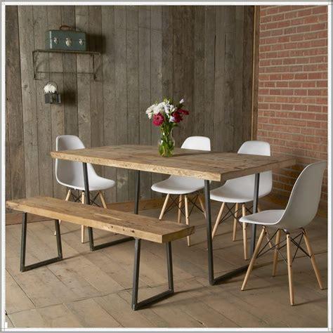 brooklyn modern rustic reclaimed wood dining table moc